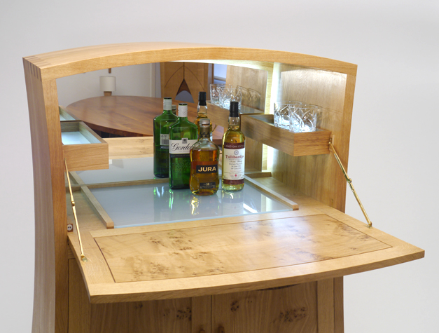 Drinks Cabinet Open